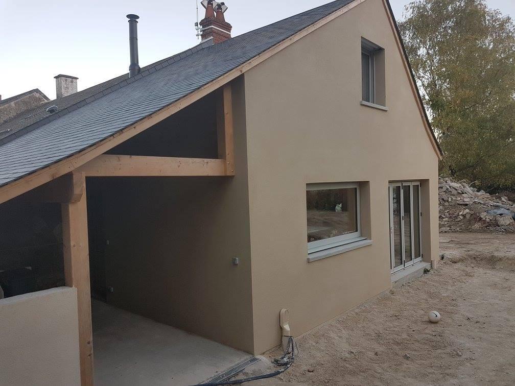 Réalisation d'une extension de maison à Fondettes
